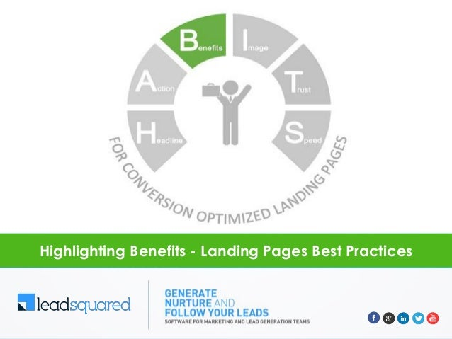 Highlighting benefits - Landing Pages Best Practices