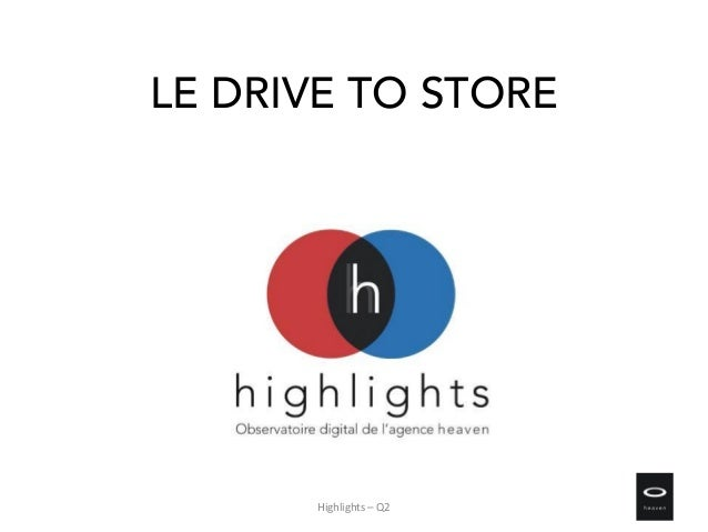 LE DRIVE TO STORE Highlights – Q2