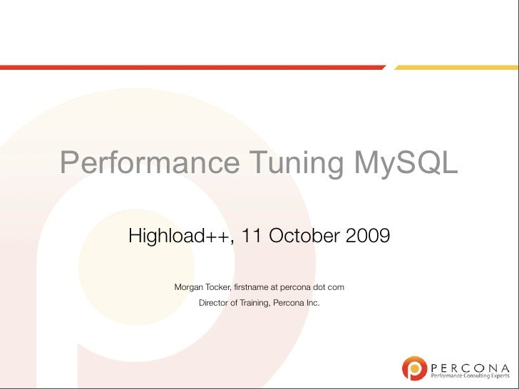 Highload Perf Tuning