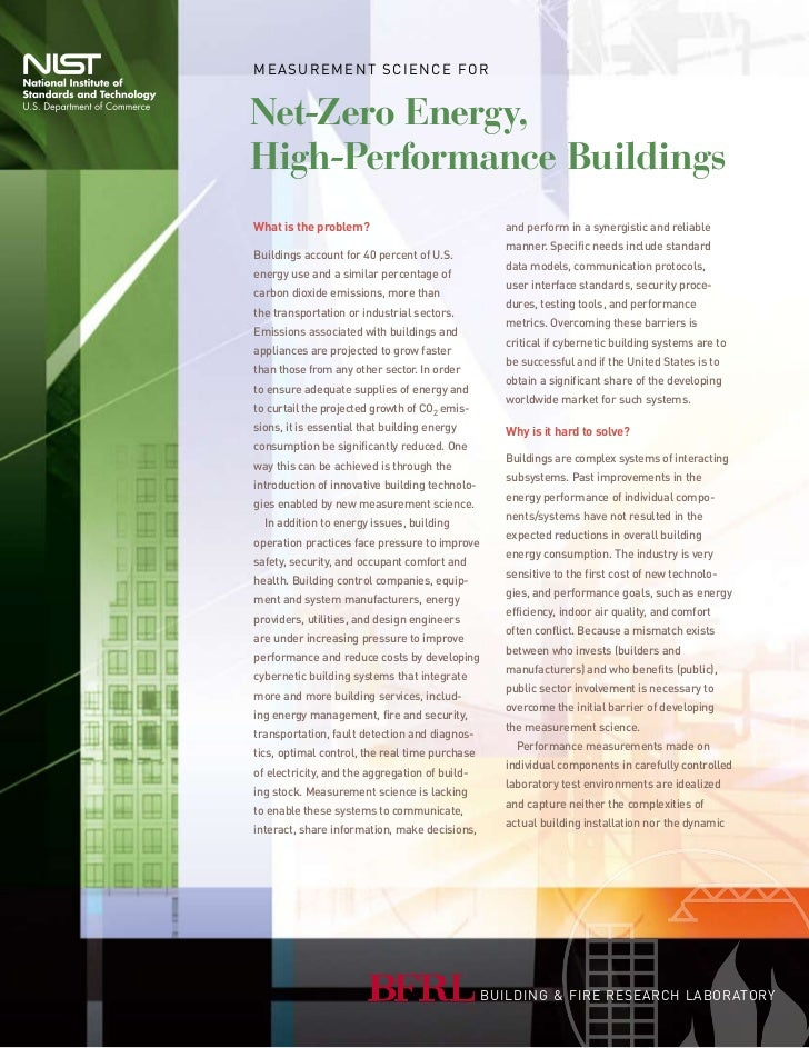 M e a s u r e M e n t s c i e n c e fo rNet-Zero Energy,High-Performance BuildingsWhat is the problem?                    ...