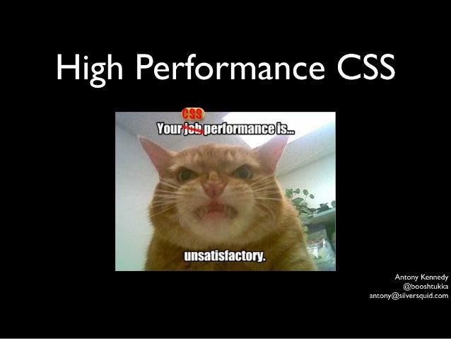 High Performance CSS