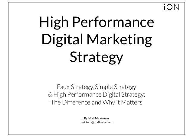 High Performance Digital Strategy | Niall McKeown | iON