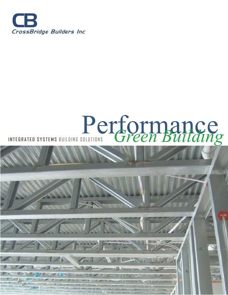 High performance green building marketing brochure 3 20-08