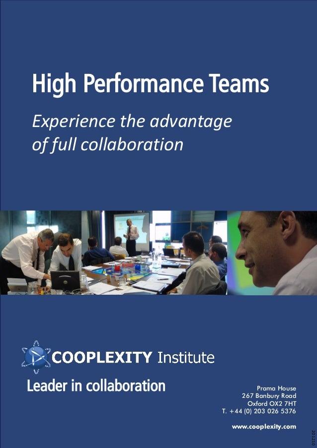 High Performance Teams Brochure