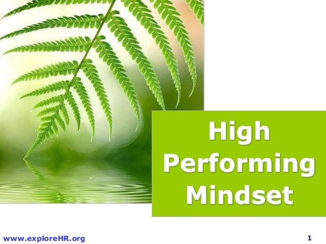 High performing mindset