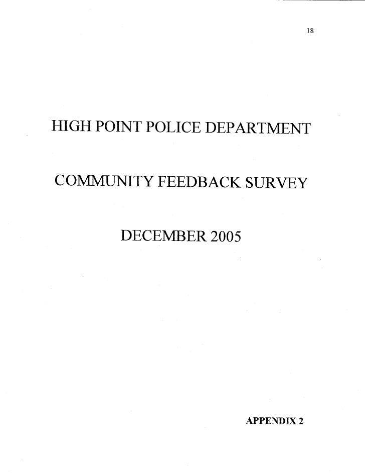 High Point Daniel Brooks Community Surve