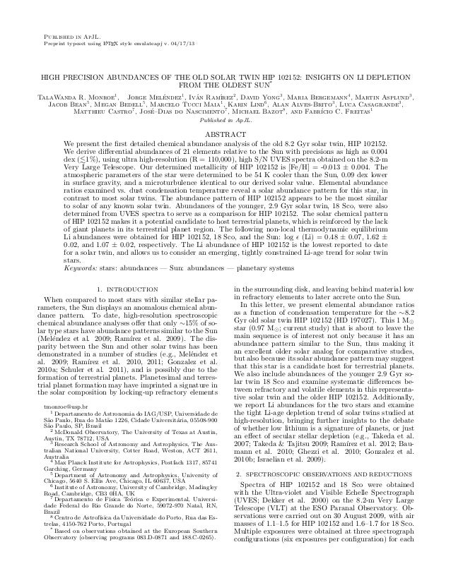 Published in ApJL. Preprint typeset using LATEX style emulateapj v. 04/17/13 HIGH PRECISION ABUNDANCES OF THE OLD SOLAR TW...
