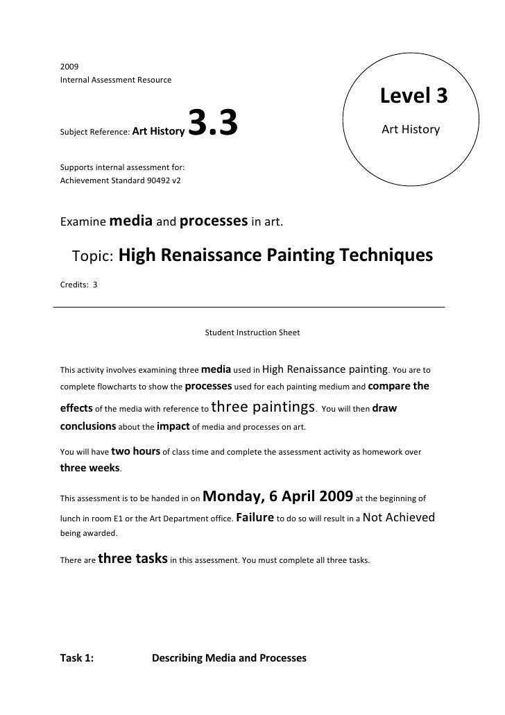 2009 Internal Assessment Resource                                                                                     Leve...