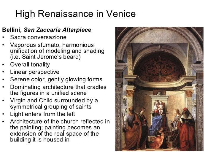 High renaissance in venice