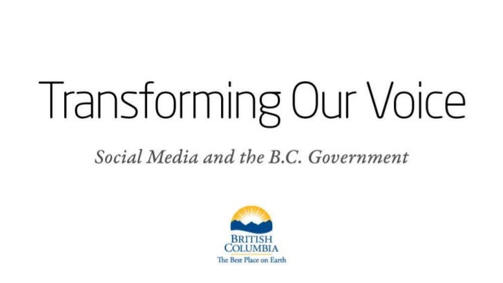 Transforming Our Voices - Social Media & BC Government (2010)