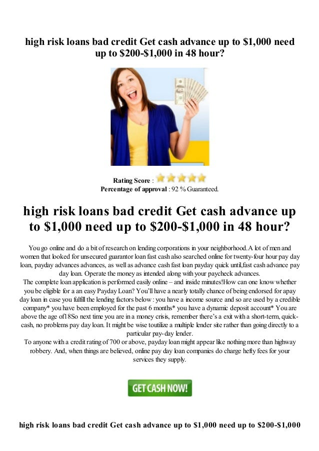 loans for high risk - 3