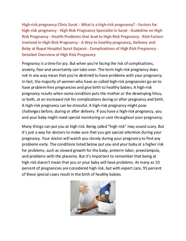 High-risk pregnancy Clinic Surat - What is a high-risk pregnancy? - Factors for high-risk pregnancy - High Risk Pregnancy ...