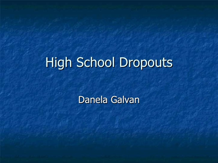 Essay on high school dropouts