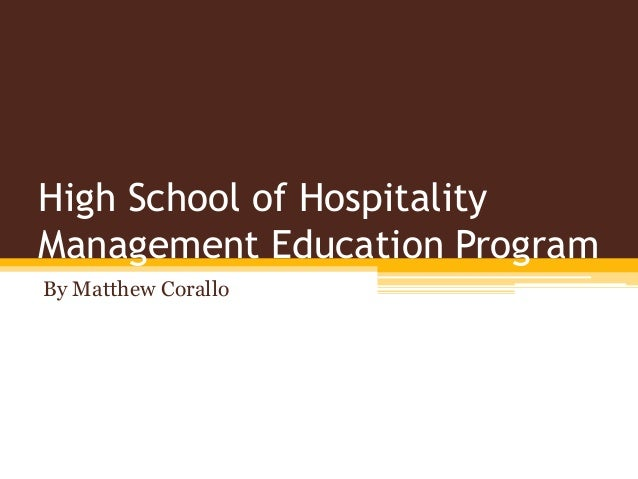 hospitality management school: