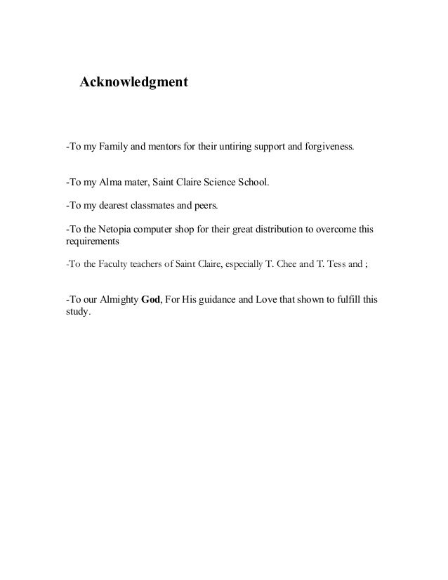 Acknowledgements dissertation parents