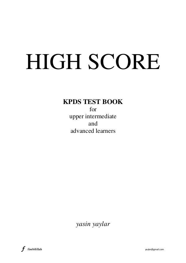 HIGH SCORE                   KPDS TEST BOOK                            for                    upper intermediate          ...