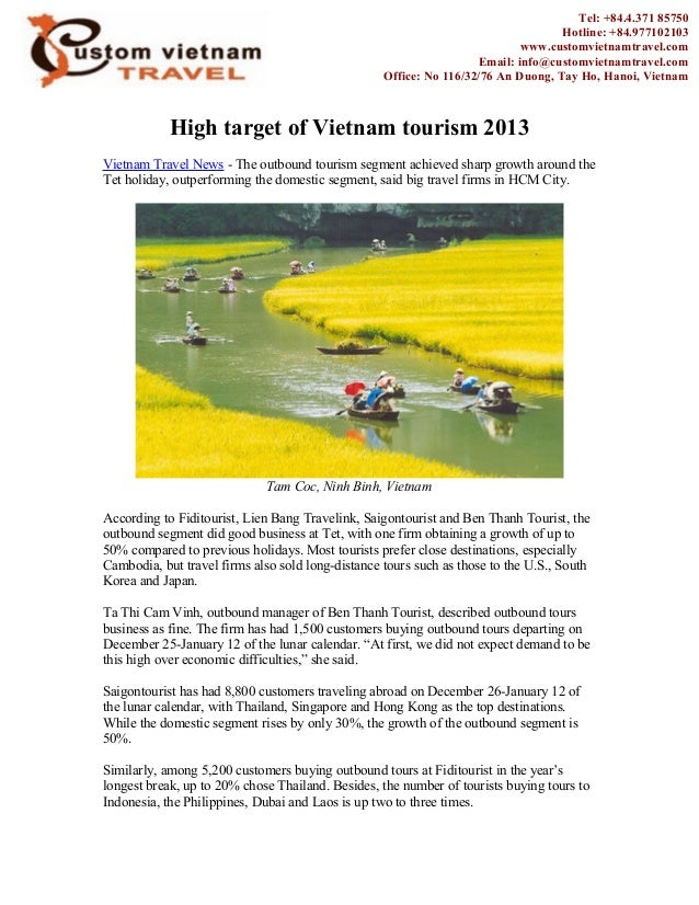 High target of Vietnam tourism 2013Vietnam Travel News - The outbound tourism segment achieved sharp growth around theTet ...