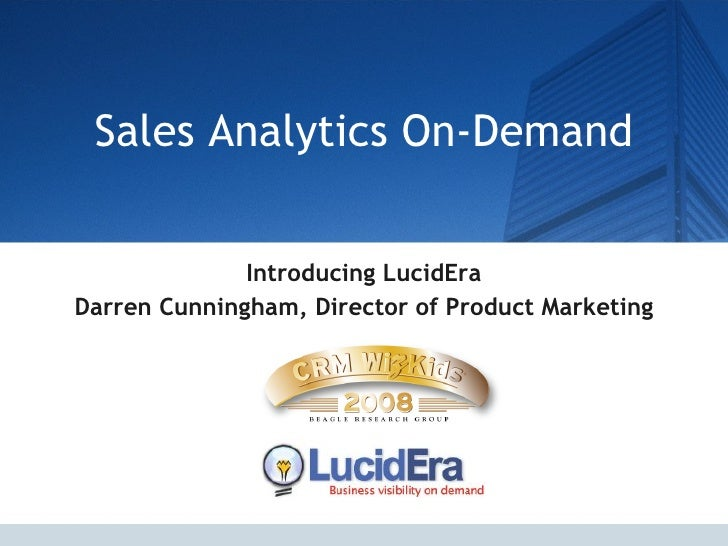 Sales Analytics On Demand
