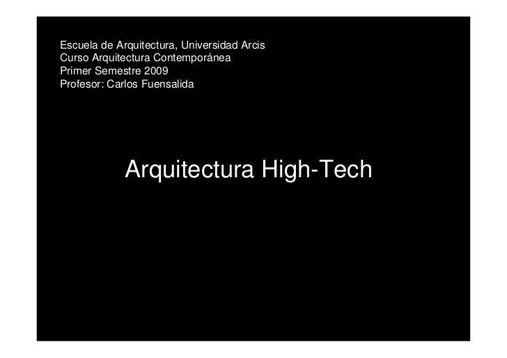 presentación clase High Tech