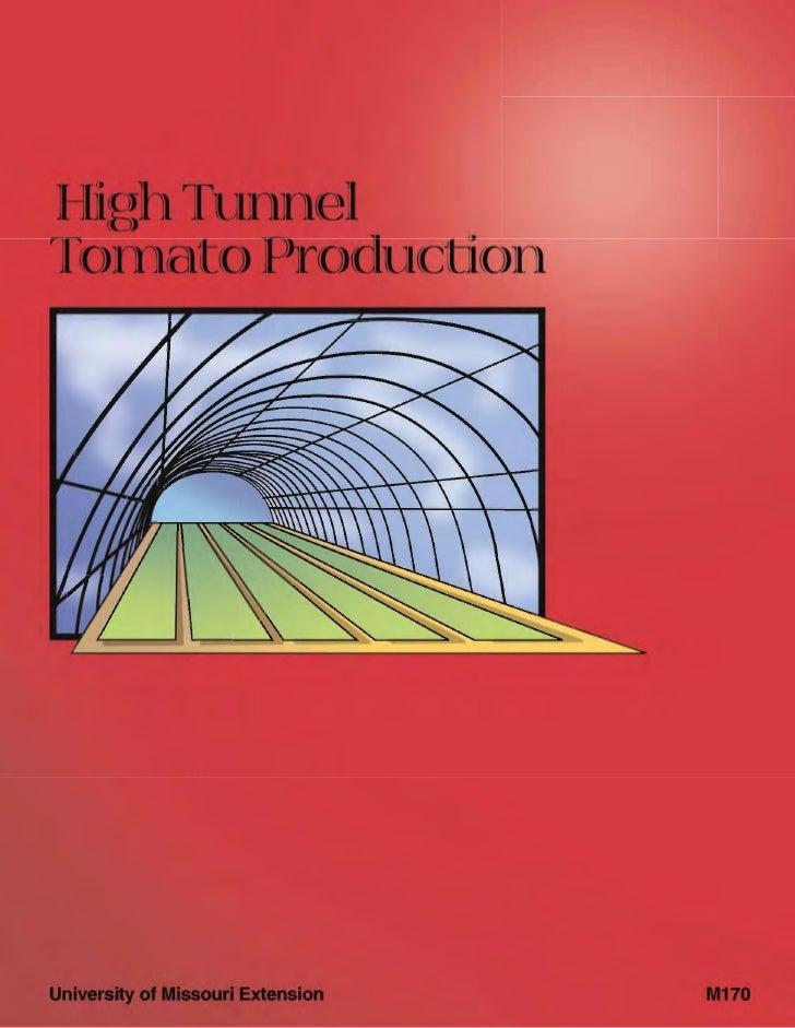 High tunel tomato production m00170