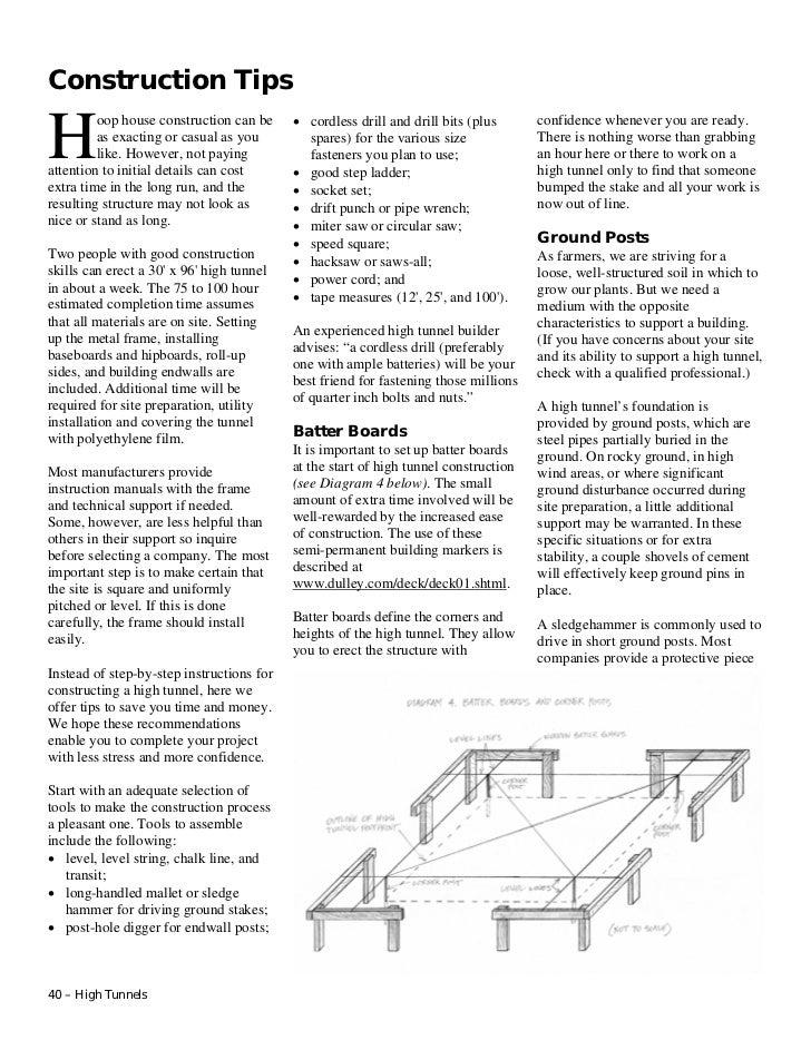 High tunnels constructiontips