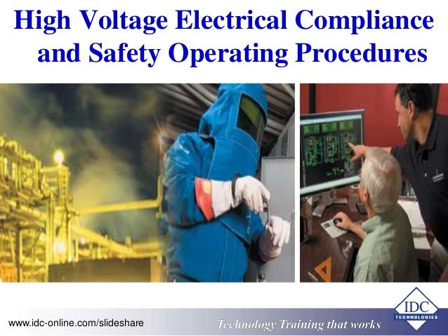 High Voltage Operator : High voltage electrical compliance and safety operating