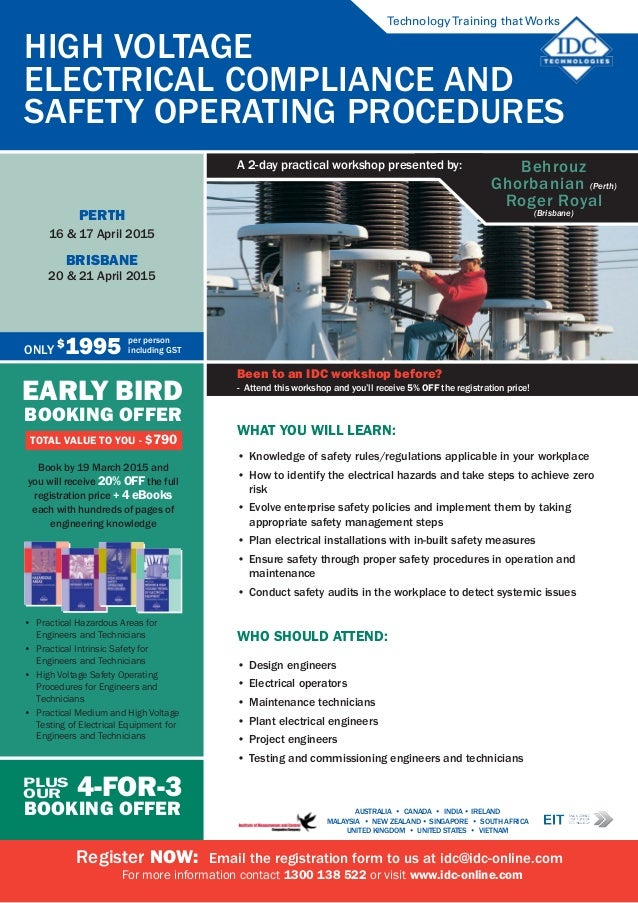 High Voltage Safety Training : High voltage electrical compliance safety operating