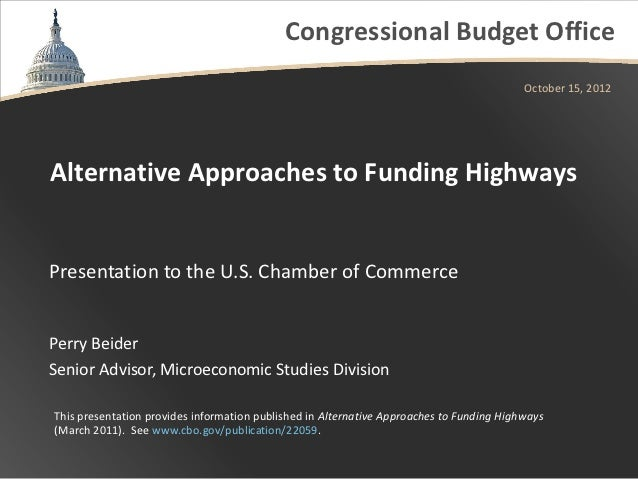 Alternative Approaches to Funding Highways