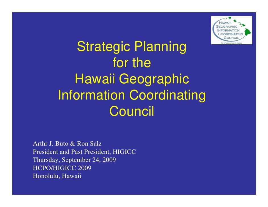 HIGICC Strategic Planning Process