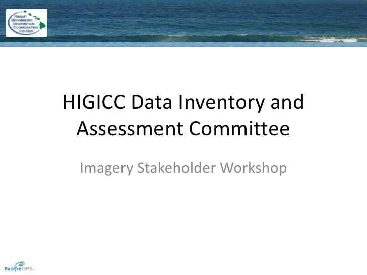HIGICC Imagery Workshop