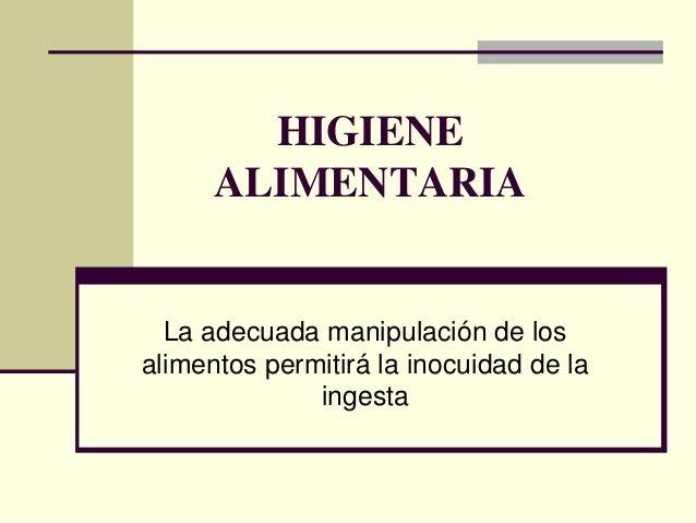 Higiene alimentaria[1]