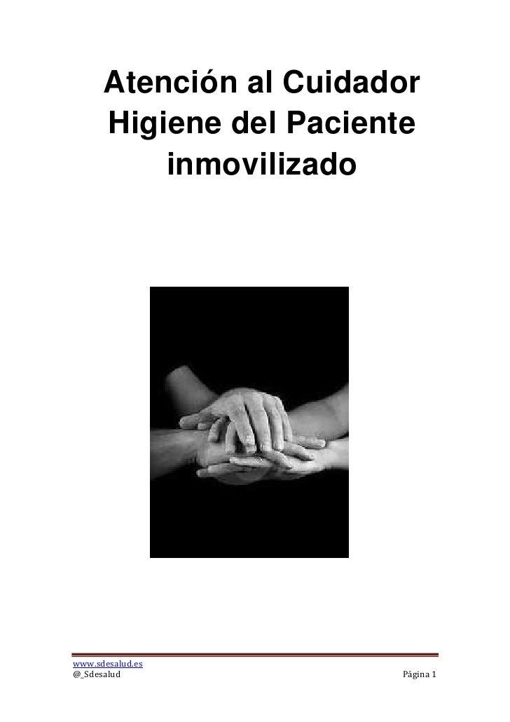 Baño En Tina Del Paciente:Atención al Cuidador Higiene del Paciente inmovilizadowwwsdesaludes