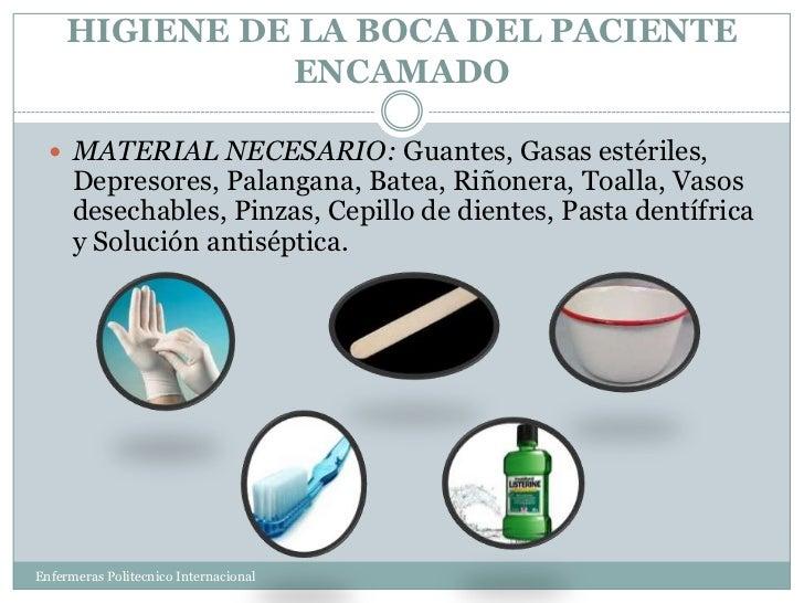 Baño General Del Paciente Encamado:Higiene de la boca, los ojos y el cabello