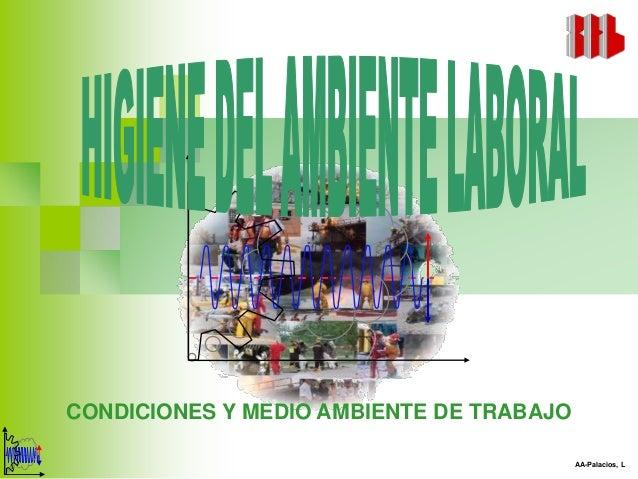 CONDICIONES Y MEDIO AMBIENTE DE TRABAJO                                          AA-Palacios, L