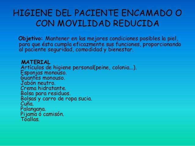 Baño General Del Paciente En Regadera:Higiene del paciente encamado