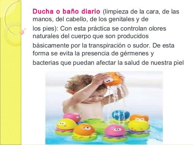Baño Diario En Ninos:ducha o baño diario limpieza de la cara de lasmanos