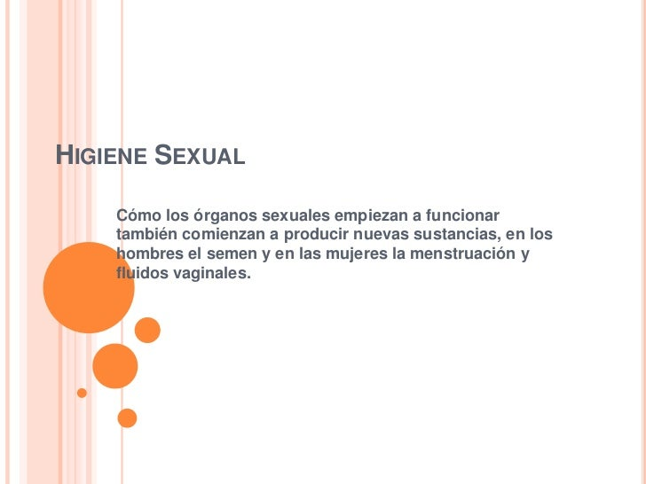 higiene sexual: