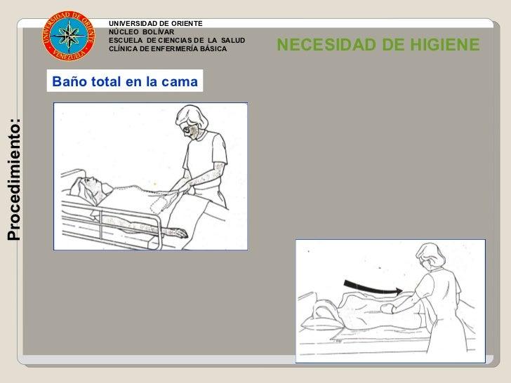 Baño General En Cama Enfermeria:universidad de oriente núcleo bolívar escuela de ciencias de la