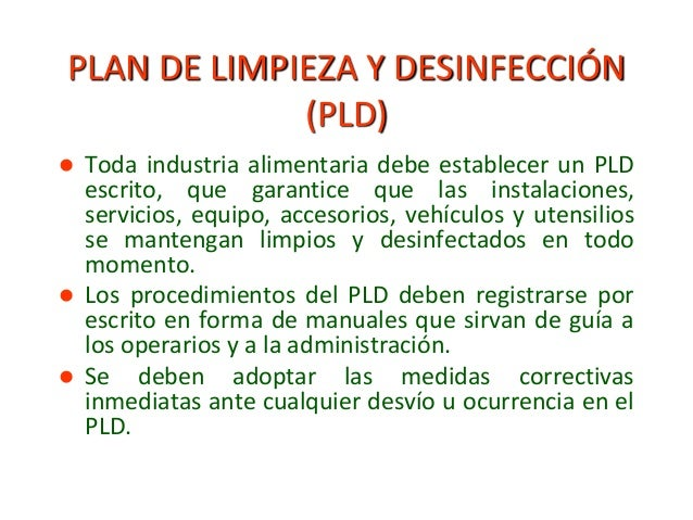 higiene y desinfeccion de personal en planta procesadora On manual de limpieza y desinfeccion en industria alimentaria
