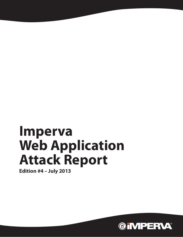 Web Application Attack Report, Edition #4