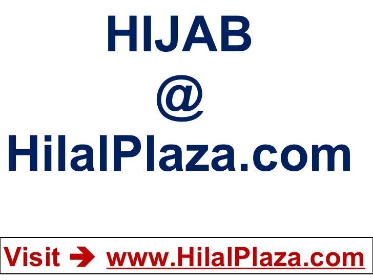 HIJAB @ HilalPlaza.com