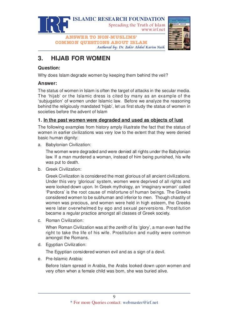 Hijab for women by dr. zakir naik