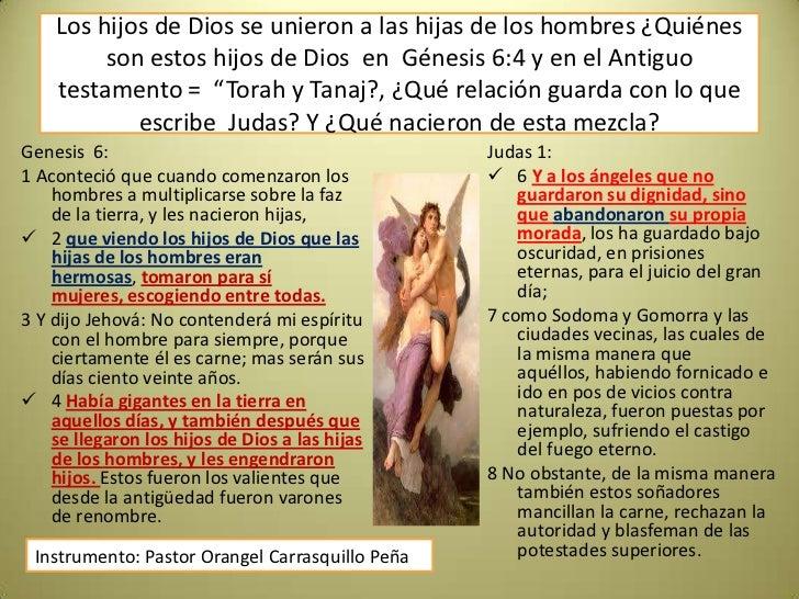 Hijos de Dios se unieron a las hijas de los hombres