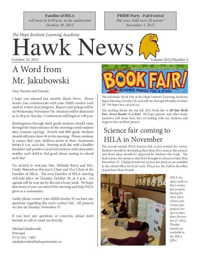 Hila Hawk News October 2012