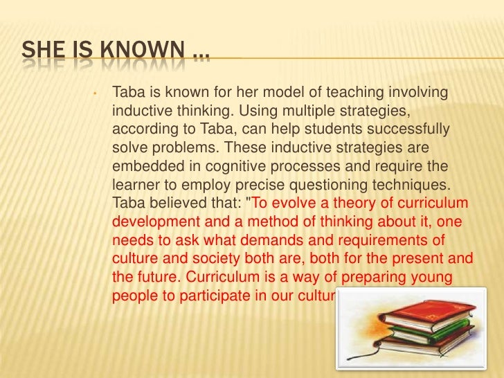 taba concept development lesson plan essay Lesson planning, part i: standard lesson structure effective lesson plan should build toward the of the main concept of the lesson and how they can apply.