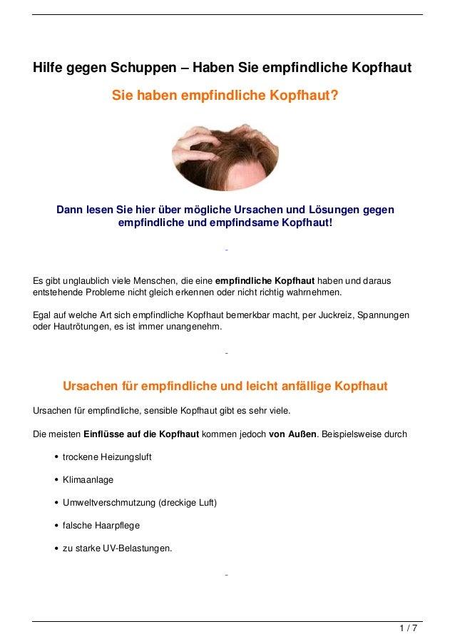 Hilfe gegen Schuppen – Haben Sie empfindliche Kopfhaut                   Sie haben empfindliche Kopfhaut?     Dann lesen S...