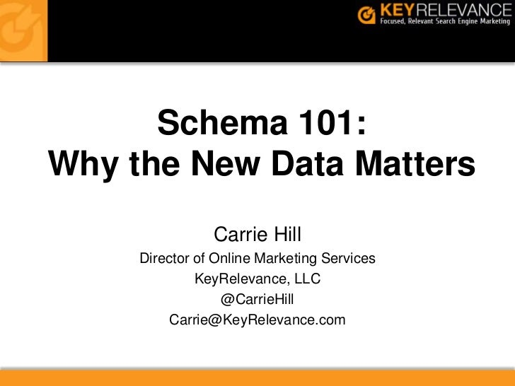SMX East - Schema 101 - Why the New Meta Data Matters