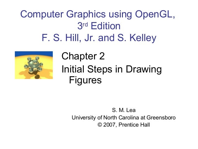 Computer Graphics using OpenGL, 3rd Edition F. S. Hill, Jr. and S. Kelley Chapter 2 Initial Steps in Drawing Figures S. M....