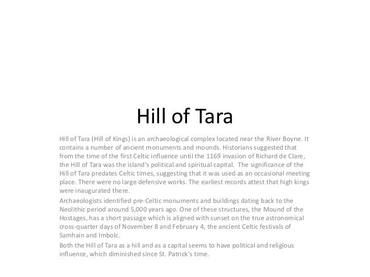 Hill of Tara<br />Hill of Tara (Hill of Kings) is an archaeological complex located near the River Boyne. It contains a nu...