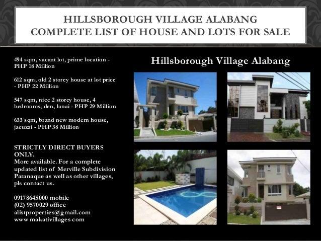 Hillsborough Village Alabang Hillsborough Village